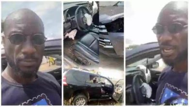 Photo of Kwabena Kwabena Involved In A Car Accident